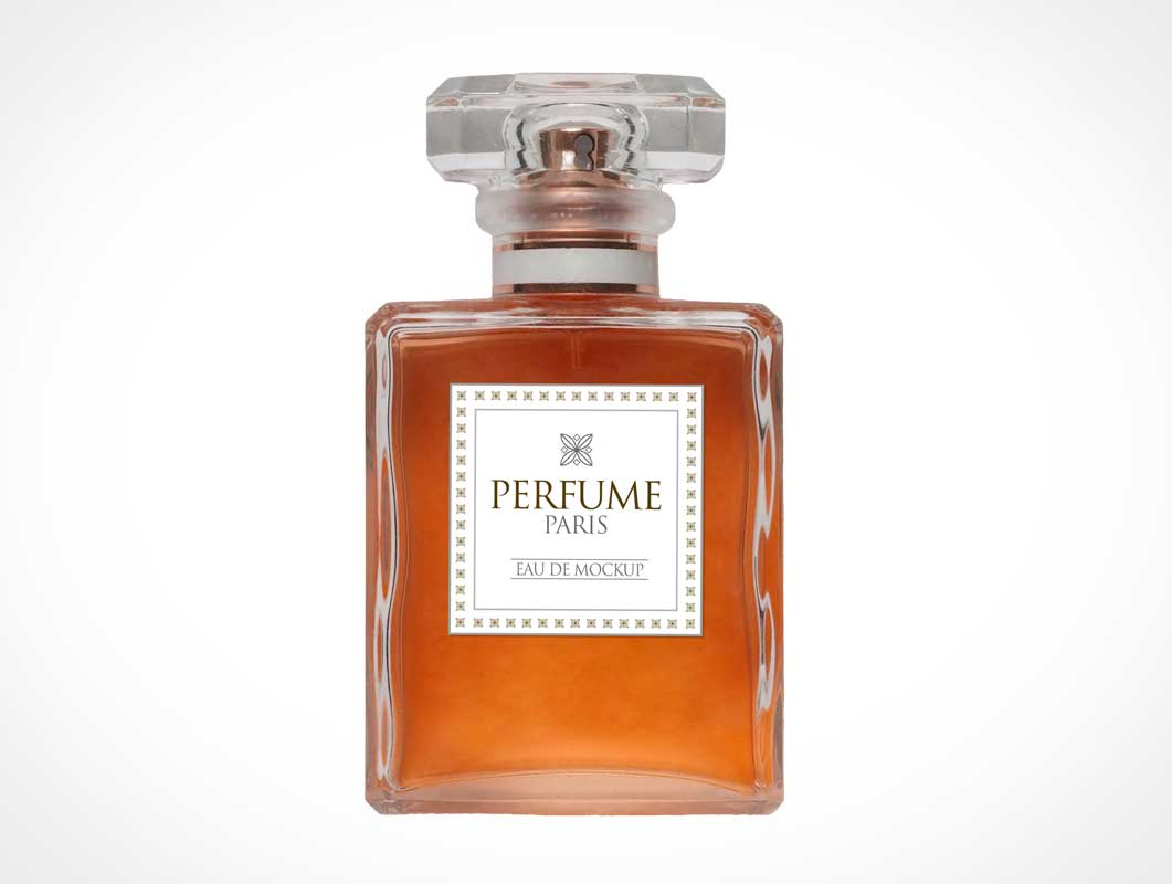 Scented Fragrance Glass Perfume Bottle PSD Mockup