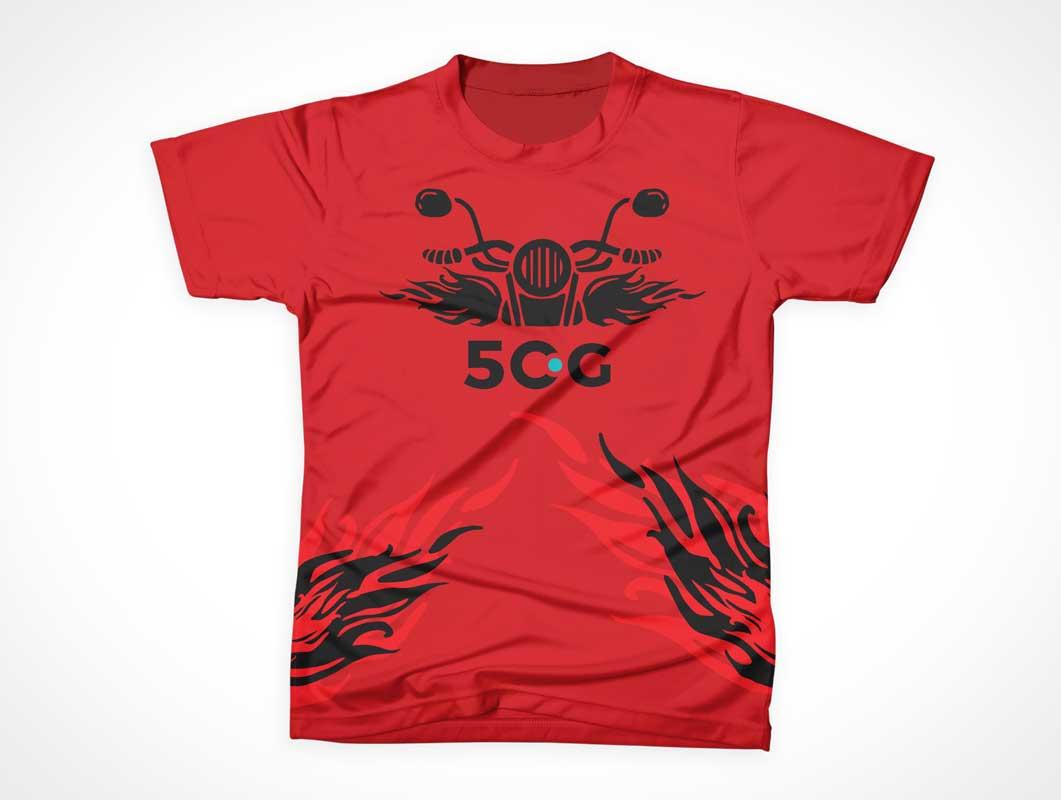 Sleeveless Cotton T-Shirt Front PSD Mockup