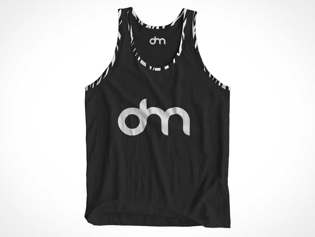 Sleeveless Tank Top Cotton Shirt Front PSD Mockup