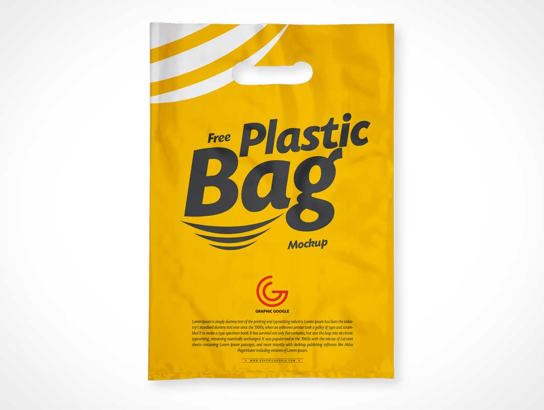 Small Punch Hole Plastic Bag PSD Mockup