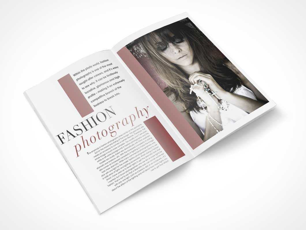 Softcover Magazine Centre Spread PSD Mockup