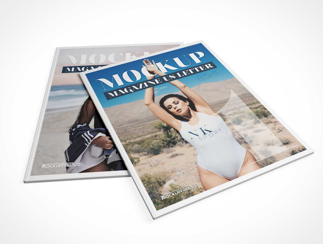 Softcover Magazine Publication PSD Mockup