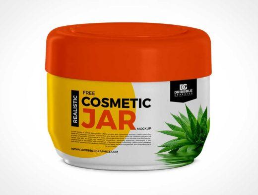 Twist Cap Cosmetic Cream Jar PSD Mockup