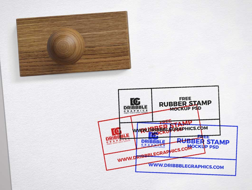 Approved Rubber Stamp on Paper PSD Mockup