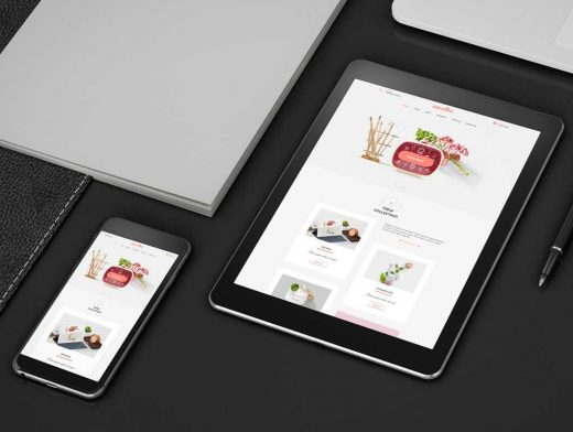 Corporate Stationery Smartphone & Tablet Devices PSD Mockup