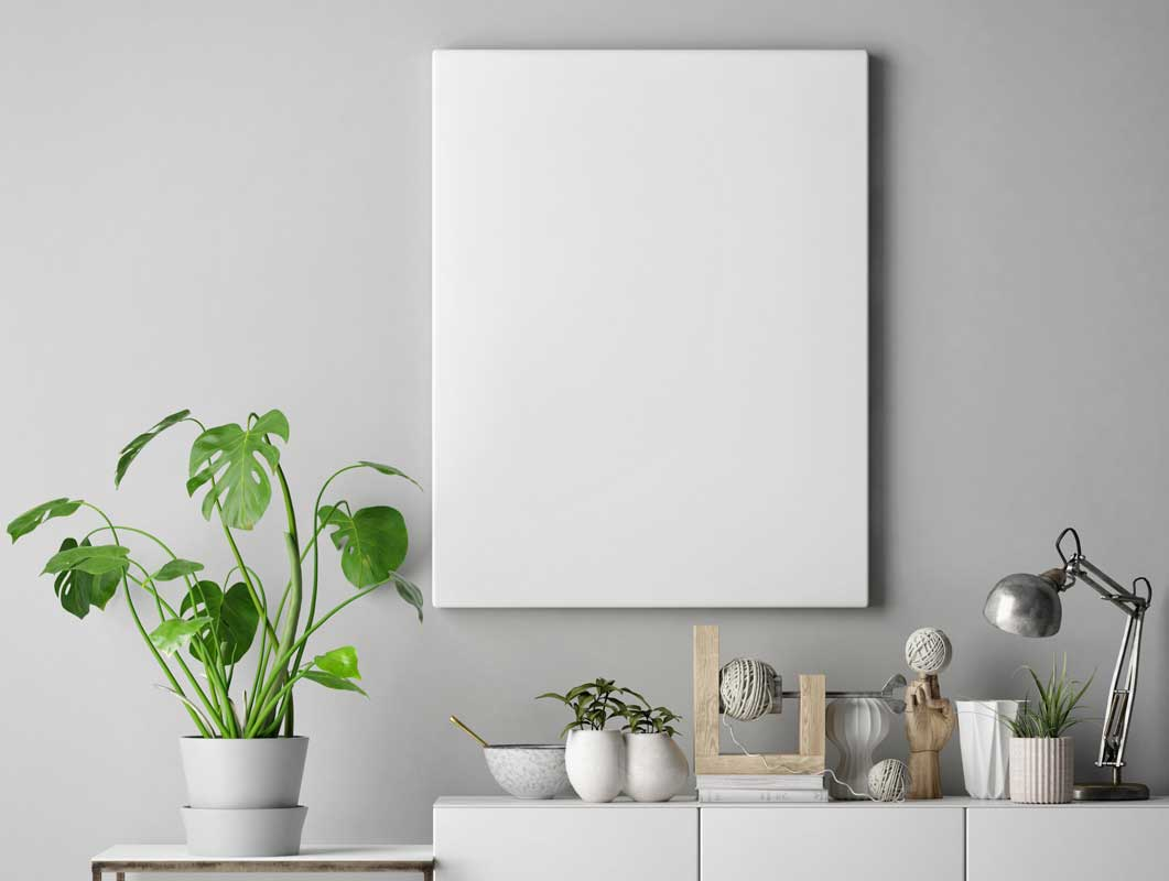 Frameless Canvas Poster PSD Mockup