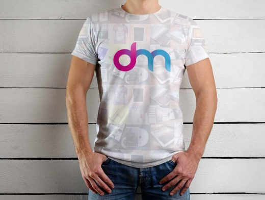 Men's Sleeveless Cotton T-Shirt Front PSD Mockup
