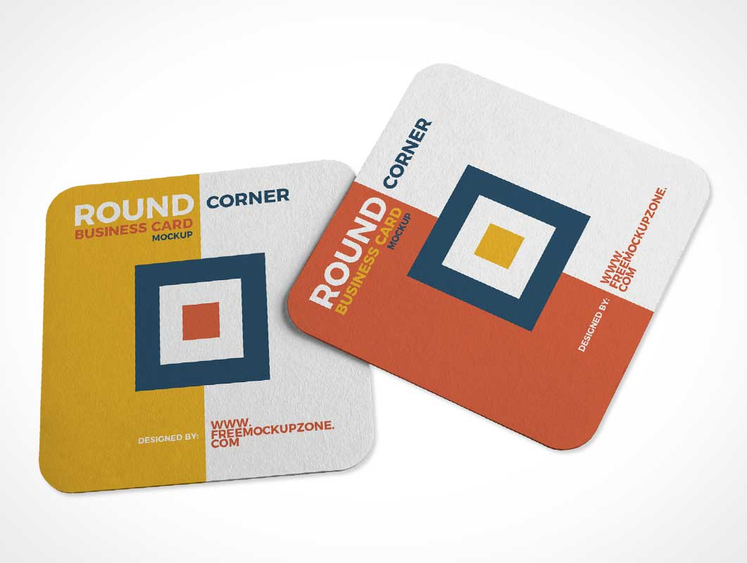 Recycled Paper Drink Coasters PSD Mockup