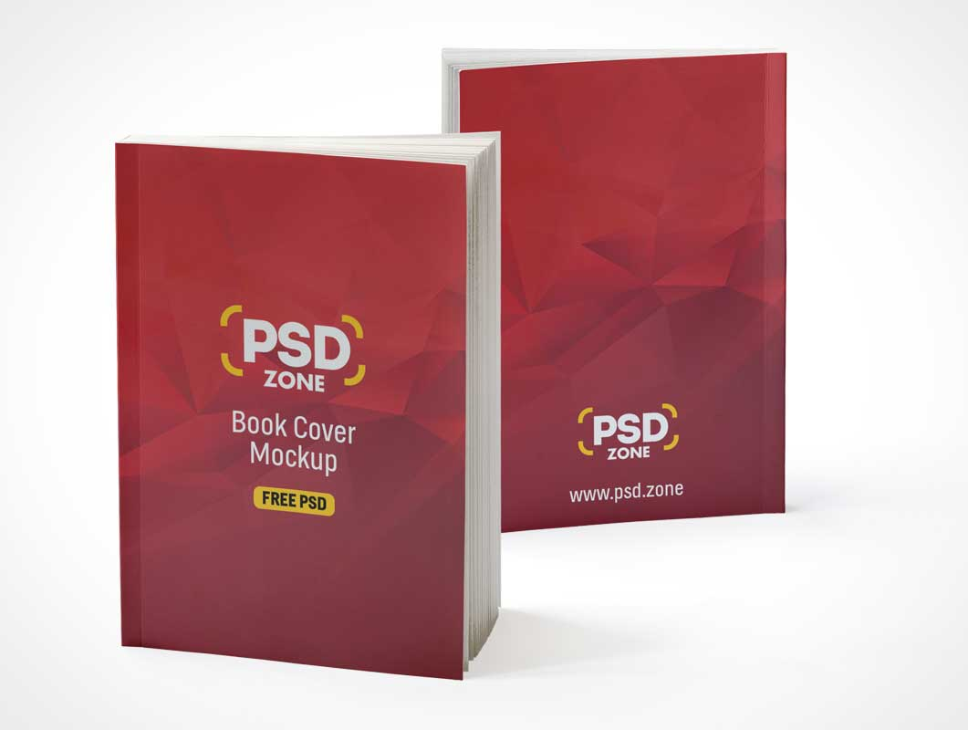 Softcover Catalog Publication Front & Back Covers PSD Mockup