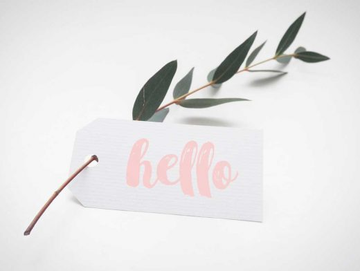 White Label Product Tag PSD Mockup