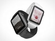 Fitness Smartwatch Wristband Styles PSD Mockup