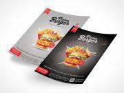 Flyer Sheets Front & Back Panels PSD Mockup