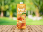 Fruit Juice Container & Twist Cap PSD Mockup
