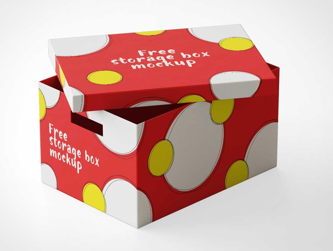 Gift & Filing Storage Box PSD Mockup