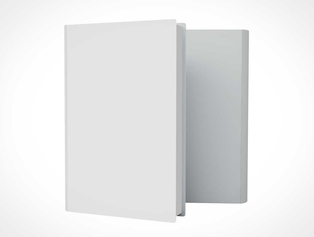 Hardcover Book Best Sellers Front & Back Presentation PSD Mockup