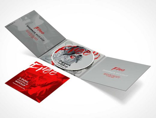 Music CD Jewel Case & Jacket PSD Mockup