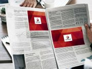 Newspaper Ad Spots In Business & Travel Section PSD Mockup