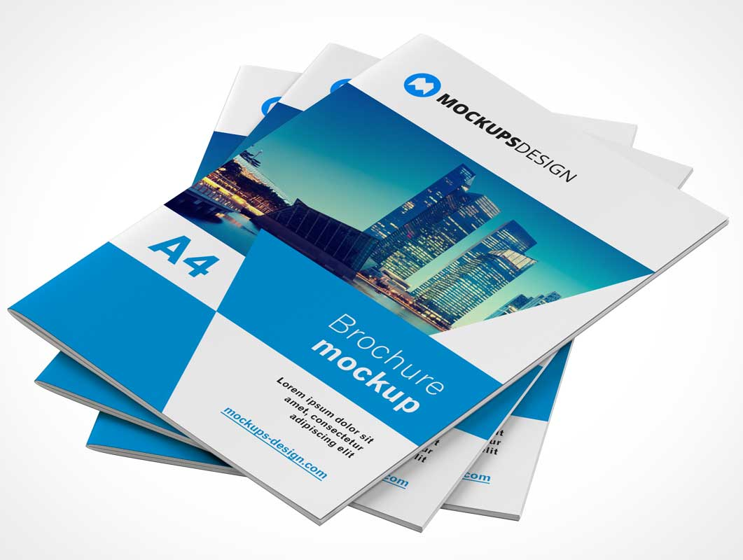 Promotional Softcover Brochure Booklets PSD Mockup