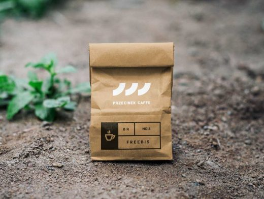 Recycled Brown Paper Kraft Bag PSD Mockup