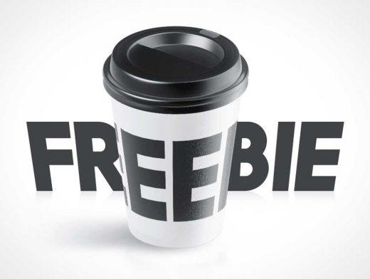 Spinning 360° Coffee Coffee Cup & Lid PSD Mockup