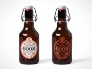 Swing Bottle Brown Glass & Latch PSD Mockup
