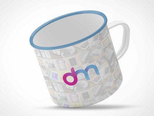 Camper's Enamel Tin Mug PSD Mockup