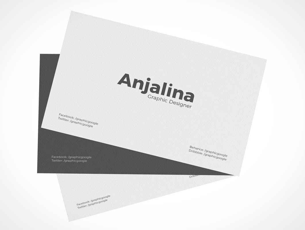 Corporate Business Card Branding Identity PSD Mockup