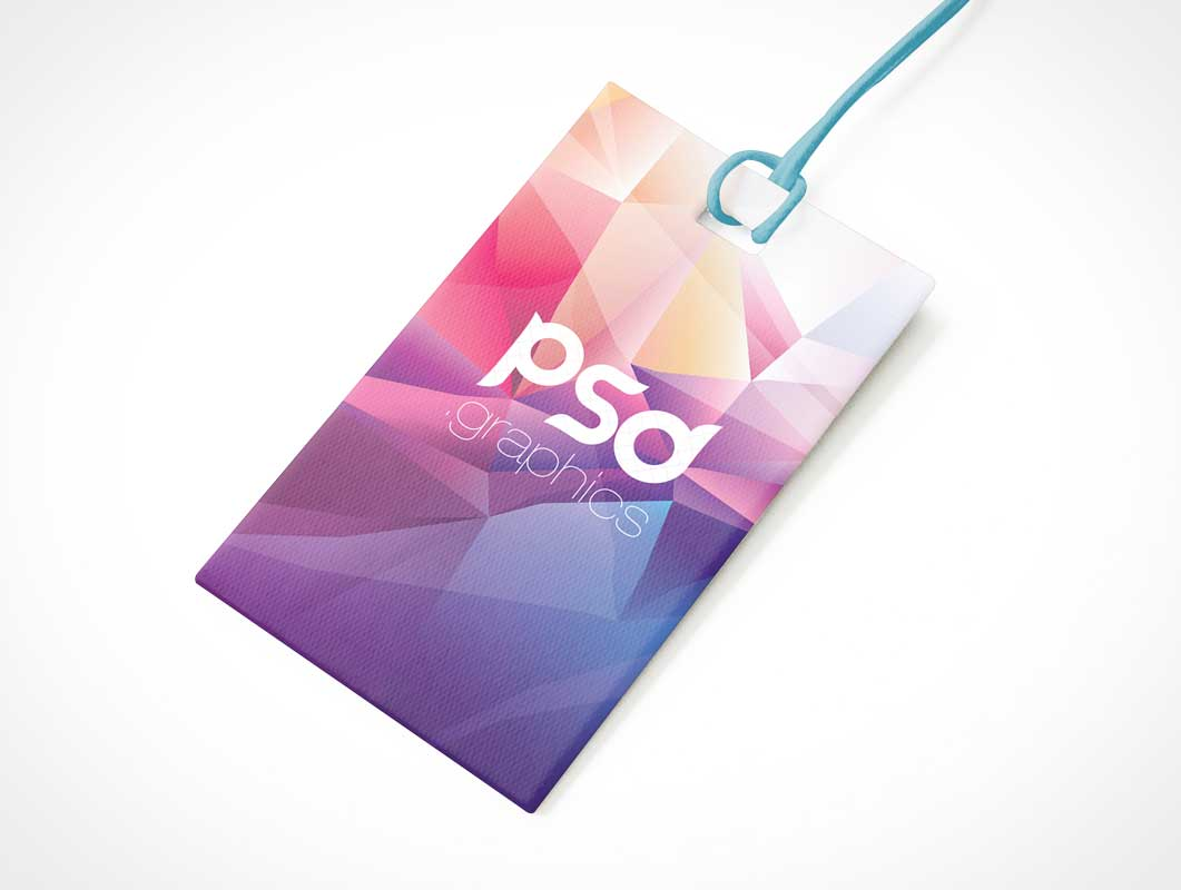 Event Access Badge & Rope Lanyard PSD Mockup