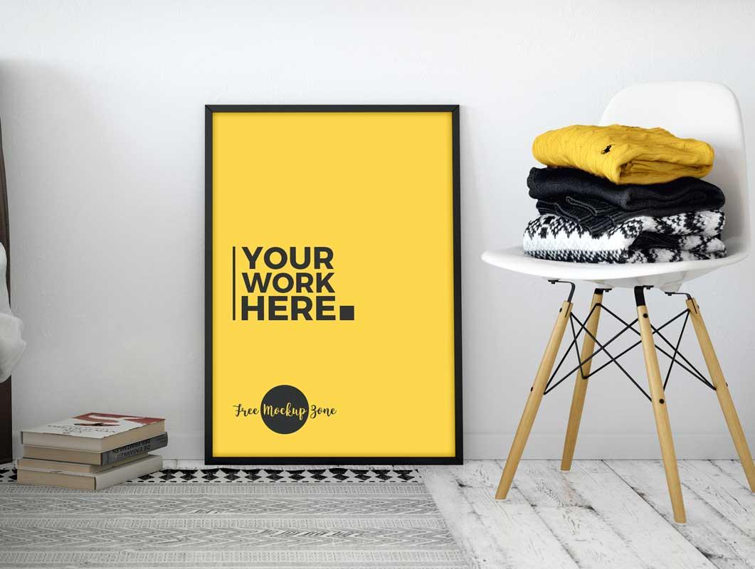 Modest Poster Frame PSD Mockup