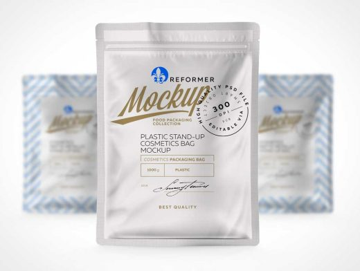 Perforated Vacuum Sealed Ziplock Foil Pouch Front PSD Mockup
