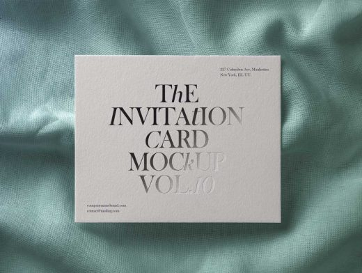 RSVP Invitation Card Front PSD Mockup