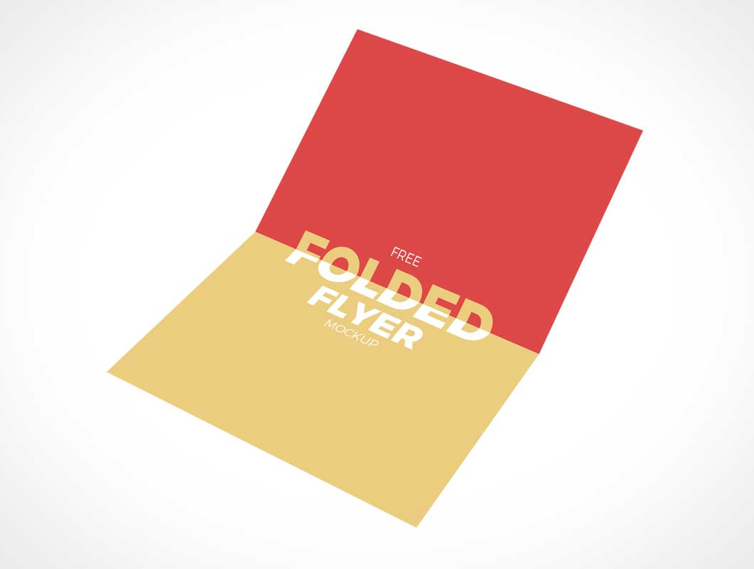 2 Panel Flyer Inside Fold PSD Mockup