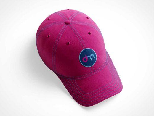 Baseball Cap & Curved Visor PSD Mockup