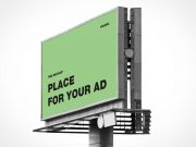 Bi-Directional Outdoor Billboard Advertising PSD Mockup