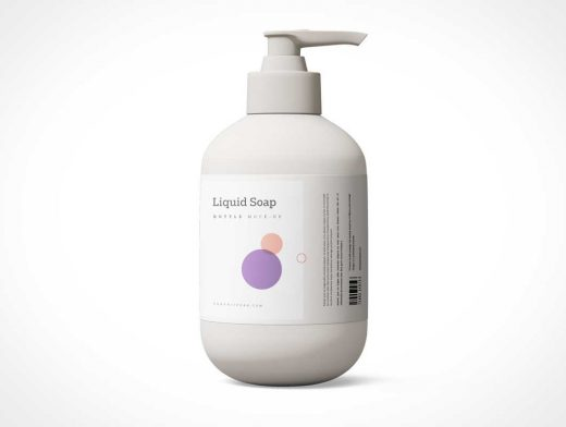 Plastic Pump Bottle Lotion Dispenser PSD Mockup