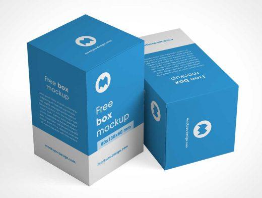 Product Box Packaging PSD Mockup