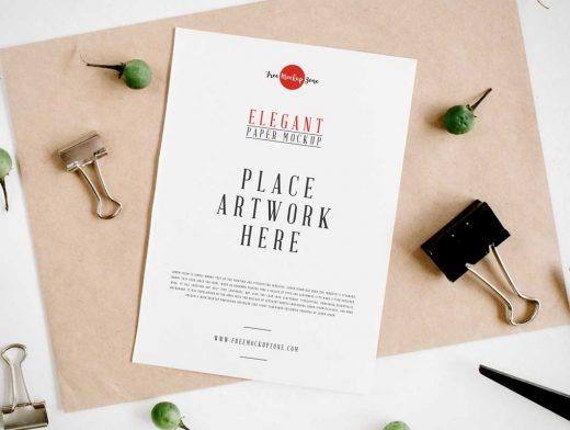 Textured Letterhead Paper Sheet PSD Mockup