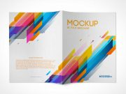 2 Panel Brochure Front & Back Covers PSD Mockup