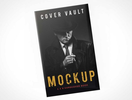 5 x 8 Secret Agent Mystery Novel Hardcover PSD Mockup