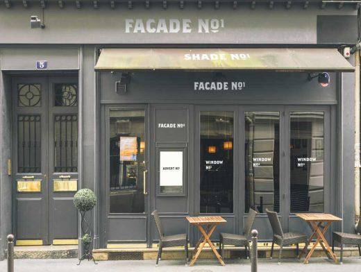 Bistro Cafe Front Facade & Entrance PSD Mockup