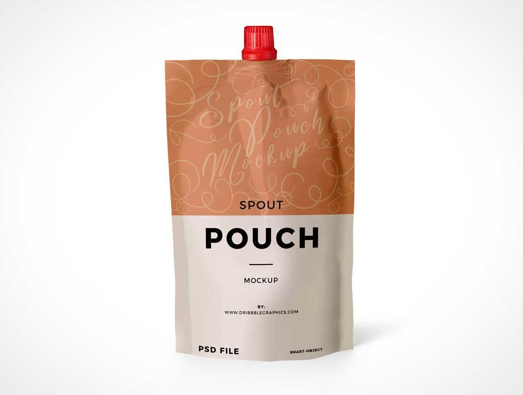 Foil Drink Pouch & Sip Spout PSD Mockup
