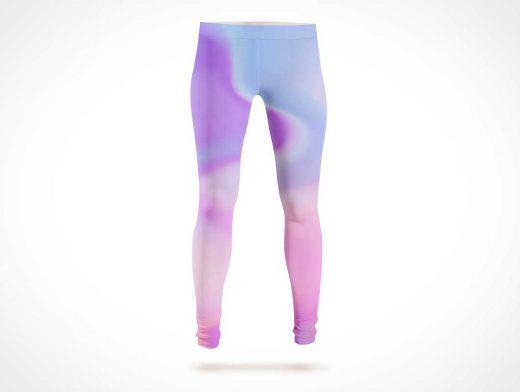 Full Length Stretch Pants Leggings PSD Mockup