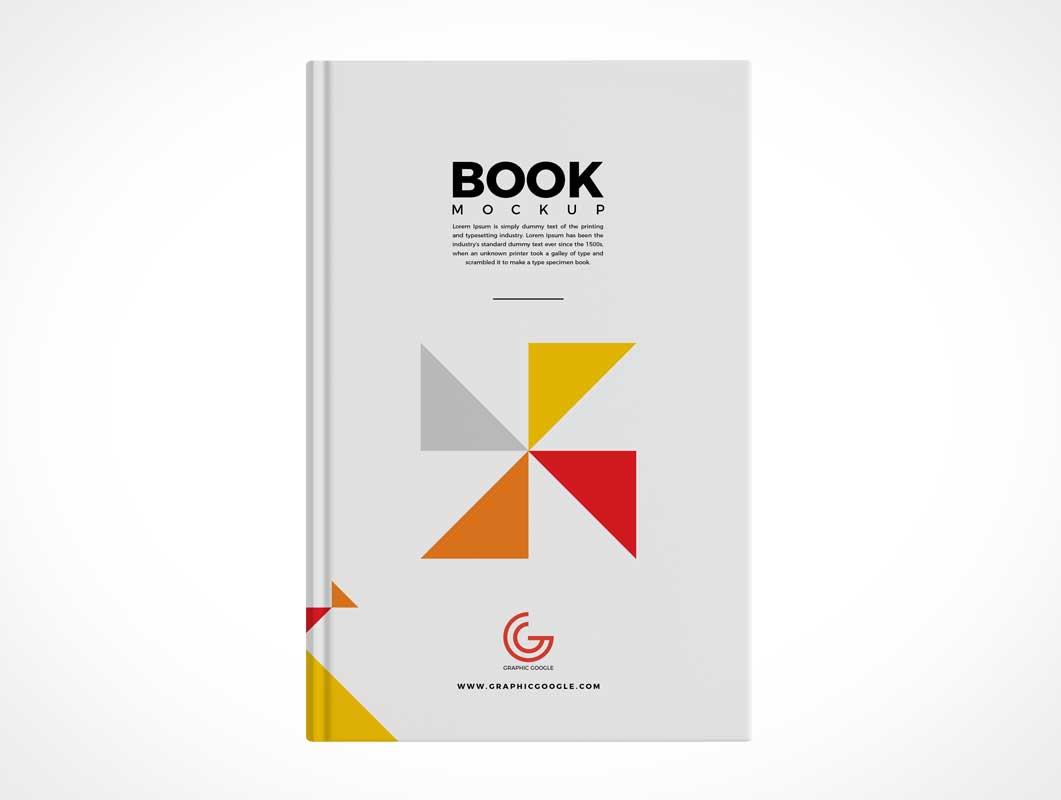 Hardback Book Front Cover PSD Mockup