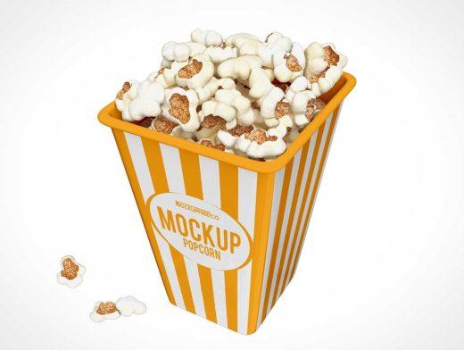 Maïs Popcorn Box PSD Mockups