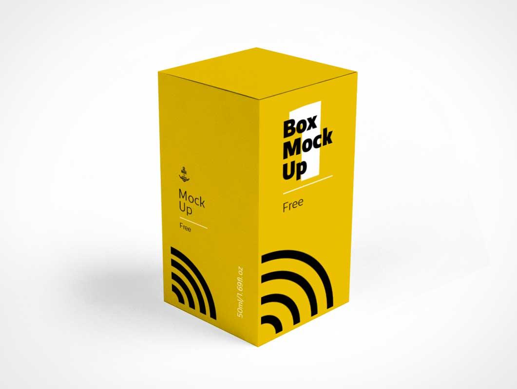 Pill Bottle Box Packaging PSD Mockup