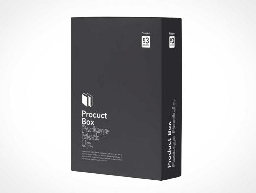 Product Box Merchandise Packaging PSD Mockup