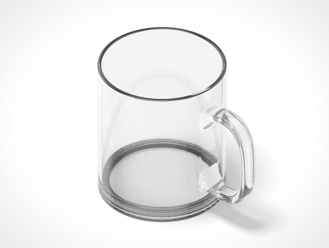 Rotating Animated Glass Mug PSD Mockup