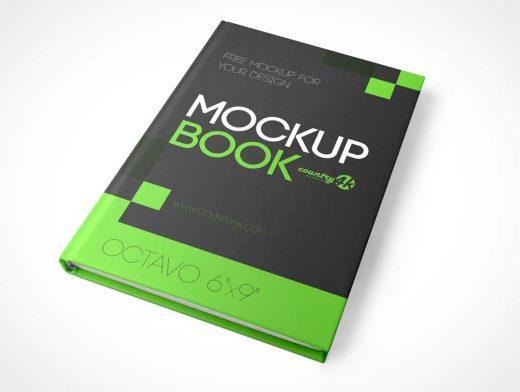 6 X 9 Bound Hardcover Book PSD Mockup