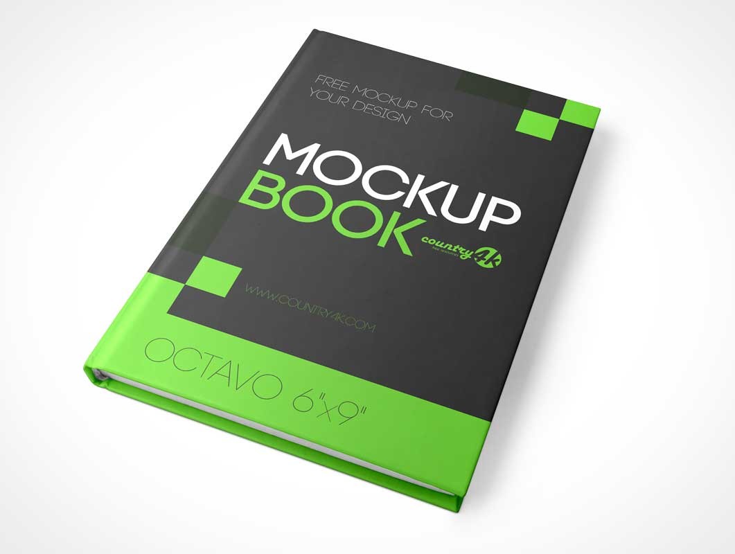 6 X 9 Bound Hardcover Book PSD Mockup