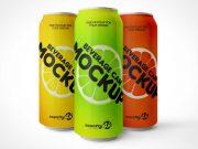 Aluminum Soda Can Sugar Drink Beverage PSD Mockup